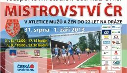 Pozvánka na mistrovství ČR do 22 let